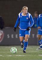 Substitute Boston Breakers midfielder Stacy Bishop (4). The Boston Breakers defeated Saint Louis Athletica, 2-0, at Harvard Stadium on April 11, 2009.