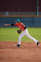 Vinnie Rodriguez (8) of Norco High School in Norco, California during the Baseball Factory All-America Pre-Season Tournament, powered by Under Armour, on January 14, 2018 at Sloan Park Complex in Mesa, Arizona.  (Zachary Lucy/Four Seam Images)
