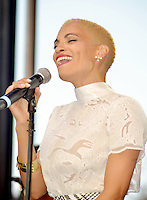 LOS ANGELES, CA -JULY 23: Singer Goapele performs at the 1st Annual Los Angeles Soul Music Festival at the Autry in Griffith Park on July 23, 2016 in Los  Angeles, California. Credit: Koi Sojer/Snap'N U Photos/MediaPunch