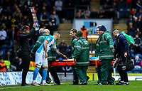 Blackburn Rovers' Corry Evans leaves the field on a stretcher<br /> <br /> Photographer Alex Dodd/CameraSport<br /> <br /> The EFL Sky Bet Championship - Blackburn Rovers v Preston North End - Saturday 11th January 2020 - Ewood Park - Blackburn<br /> <br /> World Copyright © 2020 CameraSport. All rights reserved. 43 Linden Ave. Countesthorpe. Leicester. England. LE8 5PG - Tel: +44 (0) 116 277 4147 - admin@camerasport.com - www.camerasport.com