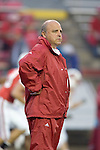 MADISON, WI - SEPTEMBER 24: Head coach Barry Alvarez of the Wisconsin Badgers watches against the Michigan Wolverines at Camp Randall Stadium on September 24, 2005 in Madison, Wisconsin. The Badgers beat the Wolverines 23-20. Photo by David Stluka.