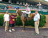 Father Dennis winning at Delaware Park on 7/23/16