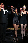 Christopher Sieber, Mel B with Amra-Faye Wright during their Curtain Call Bows in Broadway's 'Chicago' at  the Ambassador Theatre in New York City.