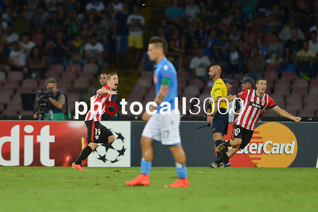 Iker Muniain of Athletic celebrates after scoring during the match between SSC Napoli and Athletic Club Bilbao, play-offs First leg Champions League at the San Paolo Stadium onTuesday August 19, 2014 in Napoli, Italy. (Photo by Marco Iorio)<br /><br /><br /> <br /><br /><br /><br /><br /><br /><br /><br /><br /><br /><br /><br /><br /><br /><br /><br /><br /><br /><br /><br /><br /><br /><br /><br /><br /><br /><br /><br /><br /><br /><br /><br /><br /><br /><br /><br /><br /><br /><br /><br /><br /><br /><br /><br /><br /><br /><br /><br /><br /><br /><br /><br /><br /><br /><br /><br /><br /><br />)