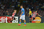 Iker Muniain of Athletic celebrates after scoring during the match between SSC Napoli and Athletic Club Bilbao, play-offs First leg Champions League at the San Paolo Stadium onTuesday August 19, 2014 in Napoli, Italy. (Photo by Marco Iorio)<br />