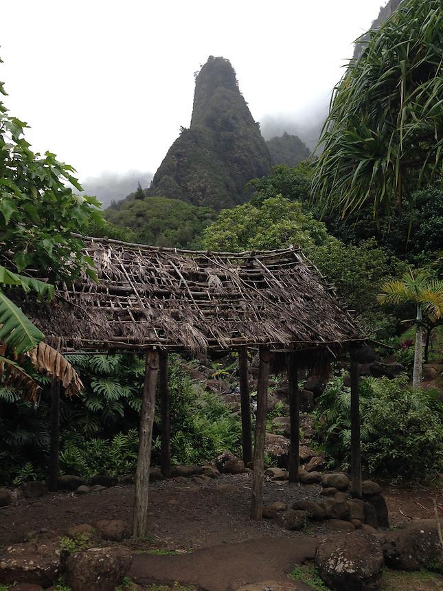 'Iao Needle, Iao Valley State Park, Maui, Hawaii, US