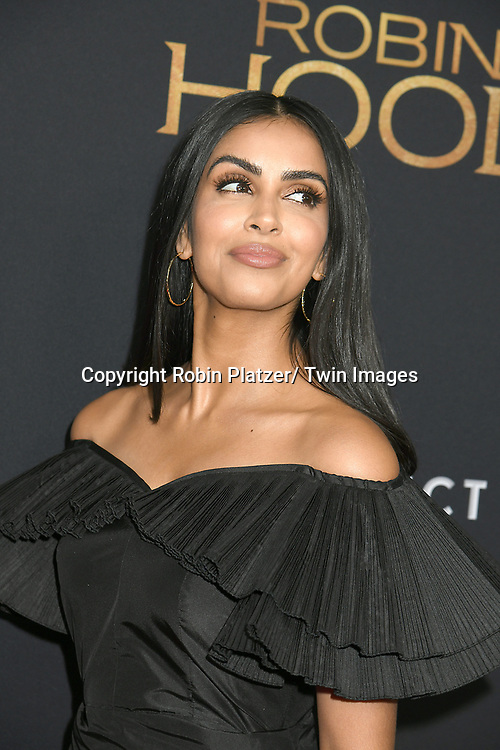 "actress Parveen Kaur attends the New York Special Screening of ""Robin Hood"" on November 11, 2018 at AMC Lincoln Square in New York, New York, USA.<br /> <br /> photo by Robin Platzer/Twin Images<br />  <br /> phone number 212-935-0770"