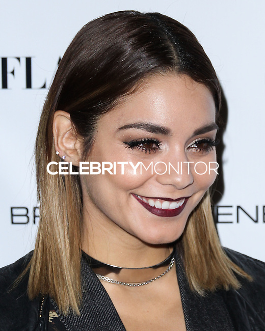 NEW YORK CITY, NY, USA - SEPTEMBER 03: Vanessa Hudgens arrives at the Flaunt Magazine Distress Issue Launch held at Gilded Lily on September 3, 2014 in New York City, New York, United States. (Photo by Jeffery Duran/Celebrity Monitor)