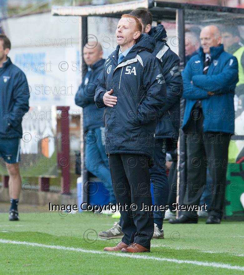 Stranraer manager Stephen Aitken.