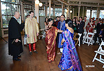 Wedding day preparation and ceremony of Malavika Jagannathan and Adam Reinhard in Galveston, Texas on January 12, 2014.