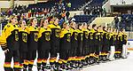 06.01.2020, BLZ Arena, Füssen / Fuessen, GER, IIHF Ice Hockey U18 Women's World Championship DIV I Group A, <br /> Deutschland (GER) vs Ungarn (HUN), <br /> im Bild Nationalhymne fuer das siegreiche Team<br /> <br /> Foto © nordphoto / Hafner