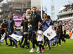 Tottenham's Kyle Walker with his family during the Premier League match at White Hart Lane Stadium, London. Picture date: May 14th, 2017. Pic credit should read: David Klein/Sportimage