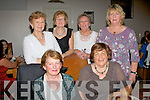 Standing, l-r: Bridie Ormond, Patricia Dunne, Mary McLaughlin and Kay Enright who are the O'Riordan sister's originally from Liscahane, Ardfert, and Travelled back home for a family gathering had a night out with their 1st cousins (seated) l-r: Mary Murphy (Lixnaw) and Breda Keane (Ballyduff) last Saturday in Bella Bia, Tralee.