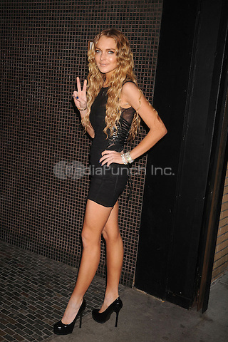 """Lindsay Lohan at the Screening of """"Filth and Wisdom"""" hosted by The Cinema Society and Dolce and Gabbana. Landmark Sunshine Theatre, New York City. October 13, 2008.. Credit: Dennis Van Tine/MediaPunch"""