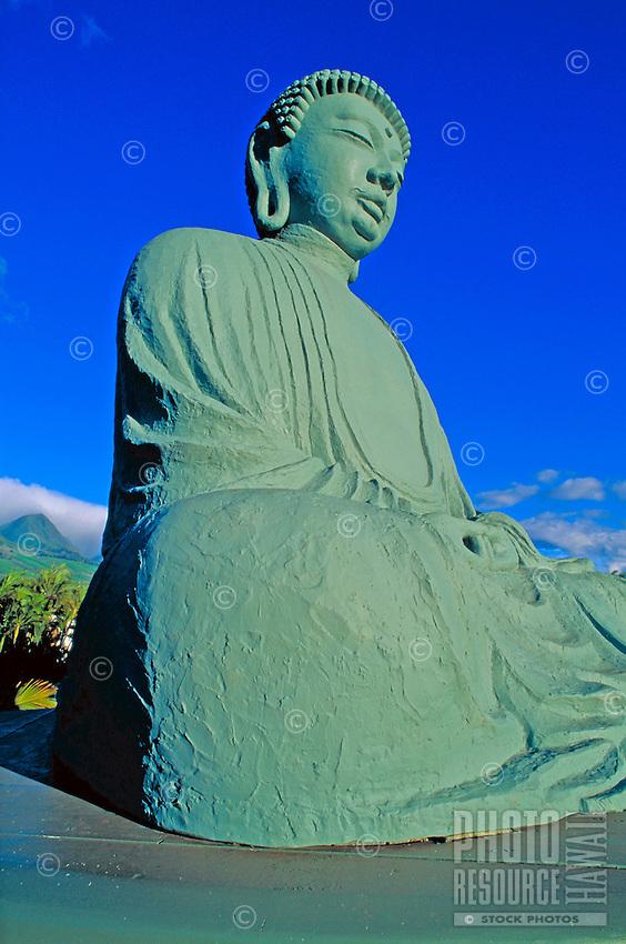 The Buddha statue at Jodo Mission in Lahaina, Maui