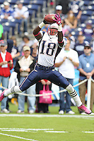 10/24/10 San Diego, CA: New England Patriots wide receiver Matt Slater #18 during an NFL game played at Qualcomm Stadium between the San Diego Chargers and the New England Patriots. The Patriots defeated the Chargers 23-20.