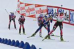 E.ON IBU World Cup Biathlon at the 10th Mountain Ski Center in Fort Kent Maine February 13, 2011. Women's Mass Start winners were Magdalena Neuner (Germany), Andrea Henkel (Germany), Darya Domracheva (Bulgaria)..USA finisher Sara Studebaker (23th.