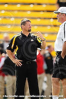 September 11, 2010; Hamilton, ON, CAN; Hamilton Tiger-Cats head coach Marcel Bellefeuille and defensive coordinator / assistant head coach / linebackers coach Greg Marshall. CFL football: Montreal Alouettes vs. Hamilton Tiger-Cats at Ivor Wynne Stadium. The Alouettes defeated the Tiger-Cats 27-6. Mandatory Credit: Ron Scheffler. Copyright (c) 2010 Ron Scheffler.