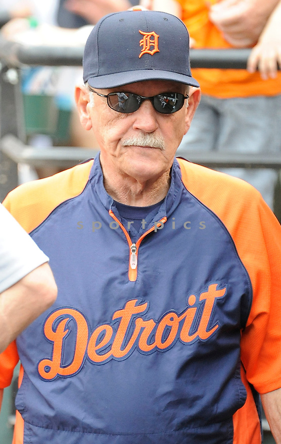 Detroit Tigers Jim Leyland (10) during a game against the Baltimore Orioles on June 2, 2013 at Oriole Park in Baltimore, MD. The Orioles beat the Tigers 4-2.