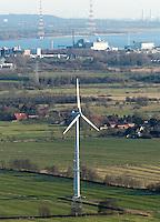 Deutschland, Hamburg, Niedersachsen, Stade, Windkraft, AKW Stade, Elbe