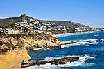 View of coastline in Laguna Beach, California.