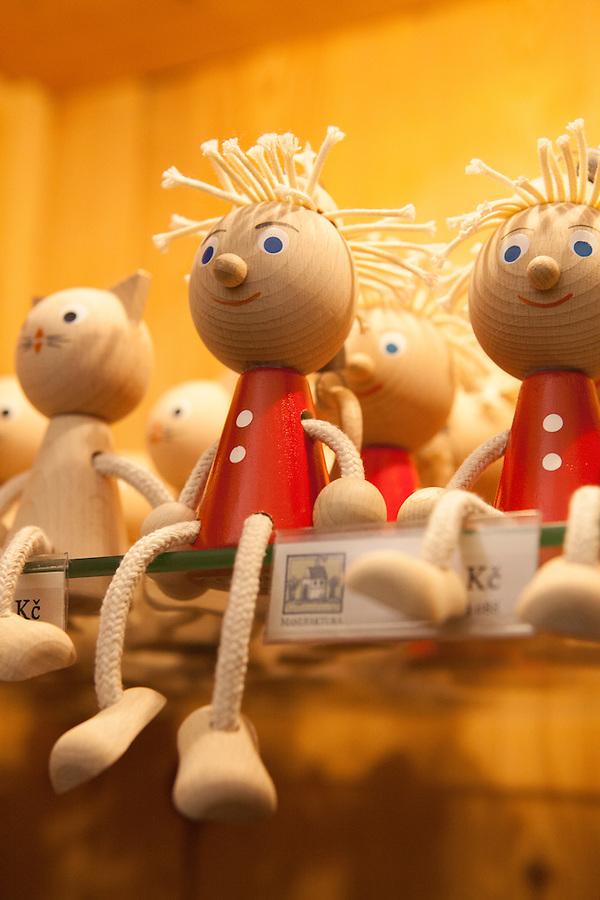 Traditional Czech handmade wooden toys, Prague, Czech Republic, Europe