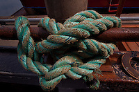Rope on Fishing Boat, Kodiak Island, Alaska, US