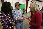 "Gabby Kale and William Chappell talk with Dr. Erin Oksol at the ""We Are Western"" event hosted by the Western Nevada College Foundation, in Carson City, Nev., on Friday, March 8, 2019. <br /> Photo by Cathleen Allison/Nevada Momentum"