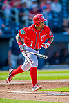 28 February 2017: Washington Nationals infielder Wilmer Difo in Spring Training action during the inaugural game against the Houston Astros at the Ballpark of the Palm Beaches in West Palm Beach, Florida. The Nationals defeated the Astros 4-3 in Grapefruit League play. Mandatory Credit: Ed Wolfstein Photo *** RAW (NEF) Image File Available ***