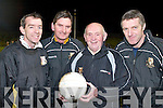 MASTERMINDS: The Masterminds behind Dr. Crokes march towards the All-Ireland Final, l-r, Pat OShea, Martin Byrnes, Eddie Tatler OSullivan and John Galvin..