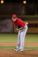 AZL Angels relief pitcher Luke Lind (49) gets ready to deliver a pitch during a game against the AZL Giants on July 10, 2017 at Scottsdale Stadium in Scottsdale, Arizona. AZL Giants defeated the AZL Angels 3-2. (Zachary Lucy/Four Seam Images)