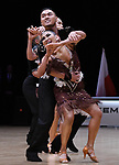 """07.12.2019,  GER; Tanzen, WDSF Weltmeisterschaft der Lateinformationen, Vorrunde, im Bild Moon Dance(MGL) mit dem Thema """"Falcon"""" Foto © nordphoto / Witke *** Local Caption ***"""