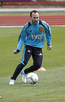 POLAND - Gniewino - 06 JUNE 2012 - Spain Training Session at Gniewino. Andrés Iniesta during the training session.
