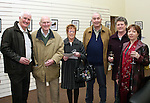 Eric O'Neill, Frank McPhail, Mary Reynolds, Frank and Denise Darcy and Eric's wife Helen at the Launch of Eric's exhibition...Photo NEWSFILE/Jenny Matthews.(Photo credit should read Jenny Matthews/NEWSFILE)....This Picture has been sent you under the condtions enclosed by:.Newsfile Ltd..The Studio,.Millmount Abbey,.Drogheda,.Co Meath..Ireland..Tel: +353(0)41-9871240.Fax: +353(0)41-9871260.GSM: +353(0)86-2500958.email: pictures@newsfile.ie.www.newsfile.ie.FTP: 193.120.102.198.