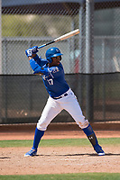 Kansas City Royals right fielder Seuly Matias (17) during a Minor League Spring Training game against the Milwaukee Brewers at Maryvale Baseball Park on March 25, 2018 in Phoenix, Arizona. (Zachary Lucy/Four Seam Images)