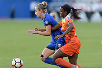 Frisco, TX - Sunday September 03, 2017: Beverly Yanez and Nichelle Prince during a regular season National Women's Soccer League (NWSL) match between the Houston Dash and the Seattle Reign FC at Toyota Stadium in Frisco Texas. The match was moved to Toyota Stadium in Frisco Texas due to Hurricane Harvey hitting Houston Texas.