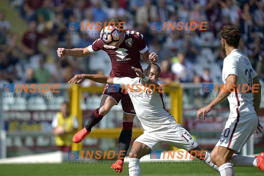 Andrea Belotti Torino gol 1-0, goal celebration,<br /> Torino 25-09-2016, Stadio Olimpico Grande Torino, Football Calcio 2016/2017 Serie A, Torino - Roma, Foto Filippo Alfero/Insidefoto
