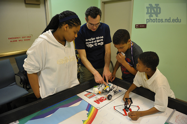 Robinson Center LEGO team..Photo by Matt Cashore/University of Notre Dame
