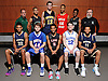 The 2016 Newsday All-Long Island varsity boys basketball team poses for a group picture at company headquarters on Tuesday, Mar. 29, 2016. FRONT ROW, FROM LEFT: Jared Rhoden - Baldwin, Alex Sorensen - South Side, Devonte Green - Long Island Lutheran, Steven Torre - Kellenberg and Shane Gatling - Baldwin. BACK ROW, FROM LEFT: Coach John Tampori - Harborfields, Mike Almonacy - Brentwood, Lukas Jarrett - Northport, Kian Dalyrimple - Half Hollow Hills West, Travis Robinson-Morgan - Elmont and Coach George Holub - Elmont.
