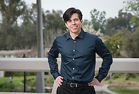 Marcello Saenz '14 - Portrait taken for Hameetman Career Center (HCC) brochure, March 3, 2016.<br /> (Photo by Marc Campos, Occidental College Photographer)