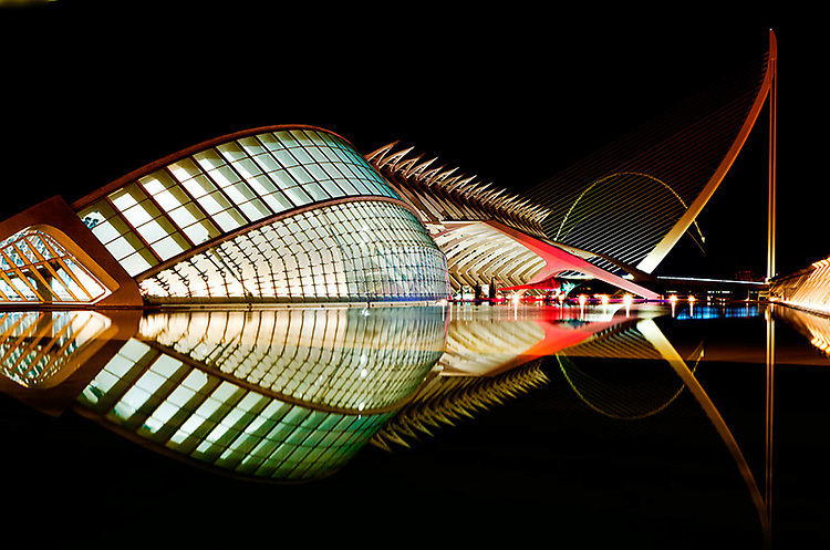 """Ciudad de las Artes y de las Ciencias"", Valencia, Spain. Part of the series that won First Prize in ""Special: Night Photography"" category, and Second Prize in ""Architecture: Bridges"" category, 2011 International Photography Awards, and 2016 International Photography-Philippines, Non-professional."
