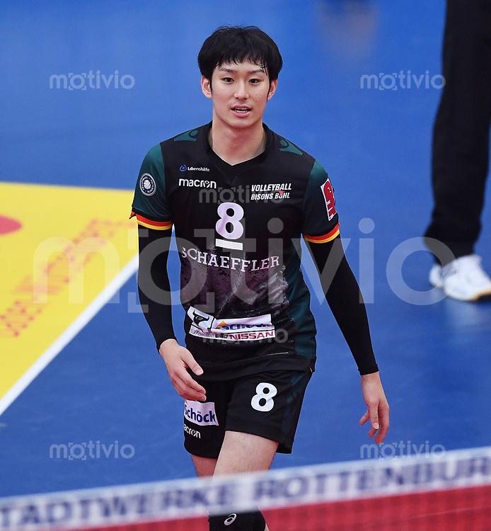 Volleyball 1. Bundesliga  Saison 2017/2018 TV Rottenburg - Volley Bisons Buehl       11.11.2017 Masahiro Yanagida (Volley Bisons Buehl)