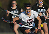 Grace Tauckus #17 of Cold Spring Harbor pounces on a loose ball during a Nassau County varsity girls lacrosse game against Long Beach at Cold Spring Harbor High School on Wednesday, April 18, 2018. Cold Spring Harbor won by a score of 13-2.
