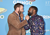 LOS ANGELES, CA - MARCH 06: Actors Joel Edgerton (L) and David Oyelowo attend the world premiere of 'Gringo' from Amazon Studios and STX Films at Regal LA Live Stadium 14 on March 6, 2018 in Los Angeles, California.<br /> CAP/ROT/TM<br /> &copy;TM/ROT/Capital Pictures