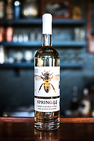 Spring 44 honey flavored vodka at their distillery in Loveland, Colorado, Tuesday, February 15, 2017. Spring44, which makes craft vodka and gin, uses only pure water collected from a spring located in Colorado's Buckhorn Canyon. <br /> <br /> Photo by Matt Nager