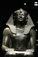 La statua del Re Thutmosi III nel Museo Egizio di Torino.<br /> The statue of the King Thutmose III in the Egyptian Museum of Turin.<br /> UPDATE IMAGES PRESS/Riccardo De Luca