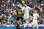 Real Madrid's Daniel Carvajal (r) and RCD Espanyol's Pablo Piatti during La Liga match. February 18,2017. (ALTERPHOTOS/Acero)