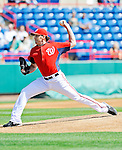 2 March 2011: Washington Nationals pitcher John Lannan on the mound during a Spring Training game against the Florida Marlins at Space Coast Stadium in Viera, Florida. The Nationals defeated the Marlins 8-4 in Grapefruit League action. Mandatory Credit: Ed Wolfstein Photo
