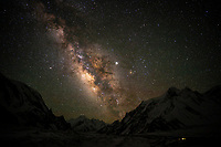 The Milky Way above giant peaks of the Karakoram