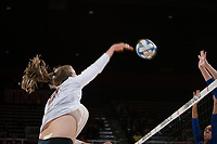 STANFORD, CA - December 1, 2017: Merete Lutz at Maples Pavilion. The Stanford Cardinal defeated the CSU Bakersfield Roadrunners 3-0 in the first round of the NCAA tournament.